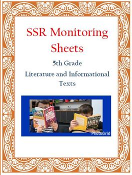 Self-Selected Reading (SSR) Monitoring Sheets - FIFTH GRADE