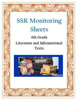 Self-Selected Reading (SSR) Monitoring Sheets - FOURTH GRADE