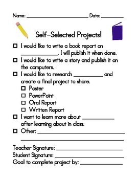 Self-Selected Student Project