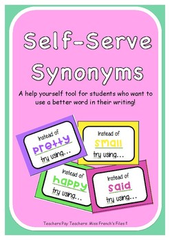 Self-Serve Synonyms