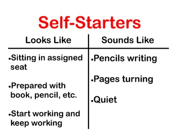 Self Starters Poster