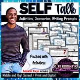 Self-Talk Activity Worksheets, Scenarios, Prompts, and Key