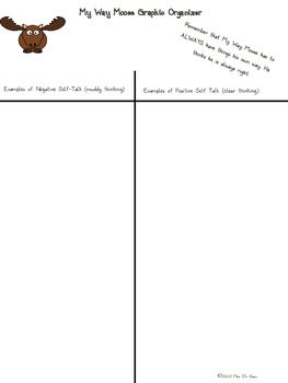 Self-Talk Graphic Organizer For Students Who Have to Have Their Own Way