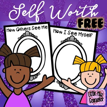 Self Worth Coloring Freebie for School Counselors