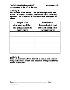 "IR ""Self-actualization"" Worksheet"