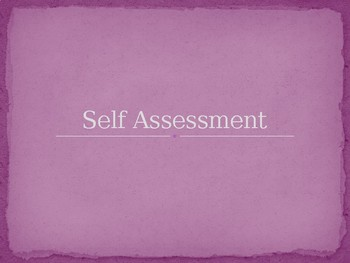 Self and Peer Assessment Resource