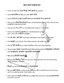 Self and Peer Edit Checklists
