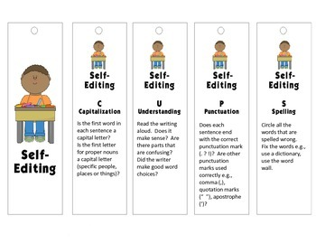 Self and Peer Editing Bookmarks