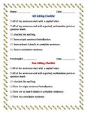Self and Peer Editing Checklist