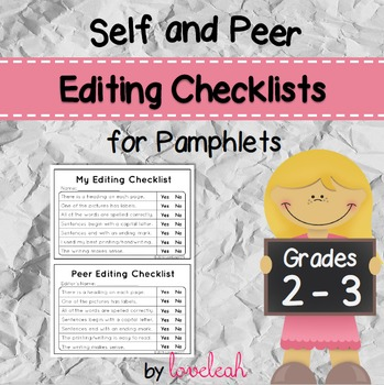 Self and Peer Editing Checklist for Pamphlets Grades 2-3