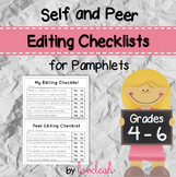 Self and Peer Editing Checklist for Pamphlets Grades 4-6