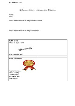 Self-assessing learning& thinking