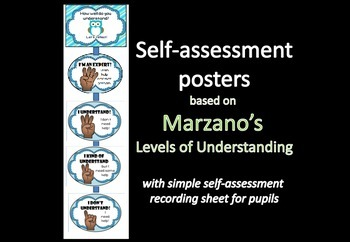 Self-assessment display & rec sheet (based on Marzano's LO