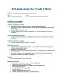 Self-assessment for Grade 3 Math