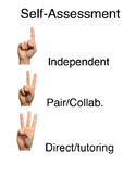 Self-assessment hand signals