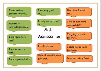 Self assessment traffic light help card