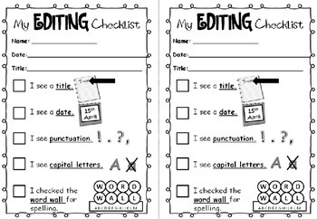 Self-assessment in writing: Editing checklist