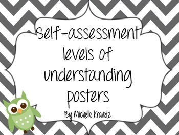 Self-assessment levels of understanding posters
