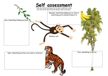 Self assessment / self reflection monkey