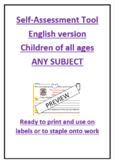 Self-assessment tool for children English version