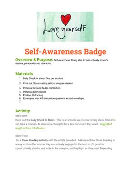 Self-awareness Badge