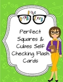 Self-check Perfect Square and Perfect Cube Flash-cards