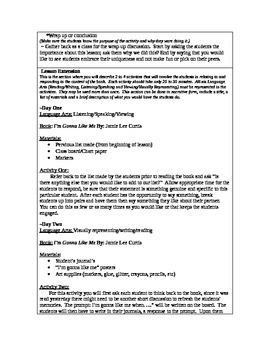 Self-concept lesson plan