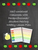 Self-contained Classroom and Para/Student Pairing Planner