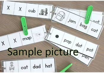 SELF-CORRECTING MONSTER color matching set PEG CARDS / TASK CARDS