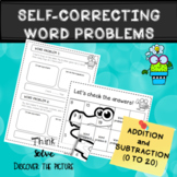 Self-correcting word problems (addition and subtraction)