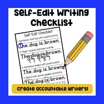 Self edit writing checklist