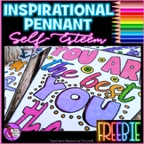 Self-esteem Coloring Pennant FREEBIE