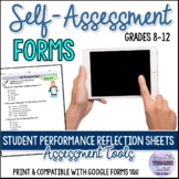Student Performance Reflection Sheets/Self-assessment Form