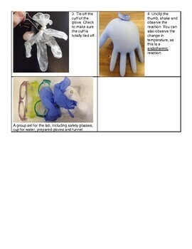 Self - inflating glove lab for Conservation of Mass