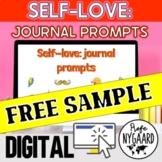 Self-love: Journal Prompts FREE SAMPLE