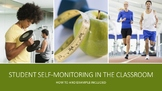 Self-monitor with calming strategies