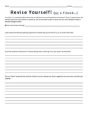 Self or Peer Revision Form - Template