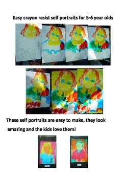 Self portraits Art Lesson new entrants