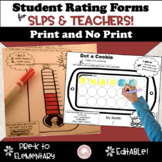 Editable Self Assessment Forms for SLPs:  Pre-k to Elementary