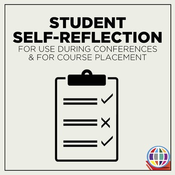 Student Self-reflection form for conferences and course placement