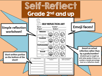 Self-reflection for art-2nd grade and up