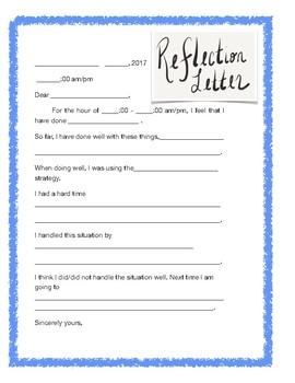 Self reflection letter