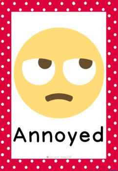 Emoji Feelings 28 Full Page Posters - self regulation and emotions
