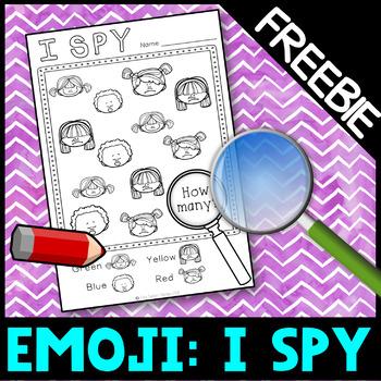 Self regulation Emotions Feelings: No Prep Activities - I spy FREEBIE