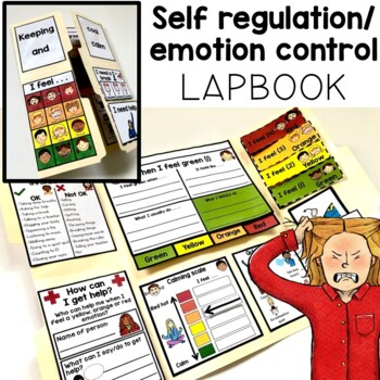 Self regulation and emotion/behavior control portable lapbook. Autism.