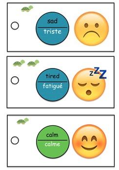 Self-regulation cards for Kindergarten - bilingual