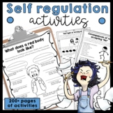 Emotion and behavior control self regulation worksheets and activities