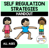 Self regulation handout with a focus on sensory processing