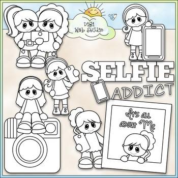 Selfie Addict Clip Art - Selfies Clip Art - Pictures - CU Clip Art & B&W