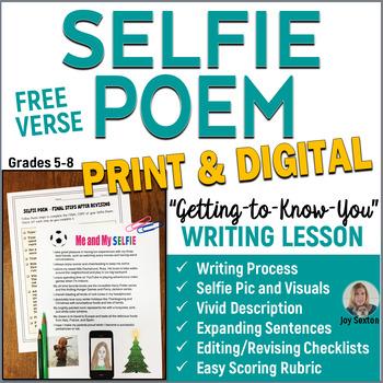 SELFIE Free Verse Poem  5-8 Writing